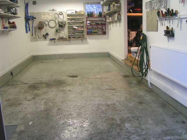 Behandling av betonggolv i garage